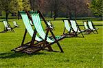 Deck chairs in a park in spring Stock Photo - Royalty-Free, Artist: Dutourdumonde                 , Code: 400-05670049