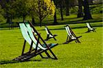 Deck chairs in a park in spring Stock Photo - Royalty-Free, Artist: Dutourdumonde                 , Code: 400-05670052