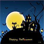 halloween background vector illustration Stock Photo - Royalty-Free, Artist: bernil                        , Code: 400-05670189
