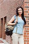 Portrait of a student standing up outside a building Stock Photo - Royalty-Free, Artist: 4774344sean                   , Code: 400-05670681