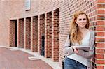 Student with a tablet computer standing outside a building Stock Photo - Royalty-Free, Artist: 4774344sean                   , Code: 400-05670712