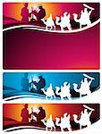 Illustration in different formats, horizontal banner format and horizontal letter format. They represent the nativity scene with the three wise men. Stock Photo - Royalty-Free, Artist: porteador                     , Code: 400-05670980