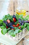 fresh spring salad with tomatoes and green salad Stock Photo - Royalty-Free, Artist: Dream79                       , Code: 400-05671036