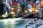 Falling night in Riomaggiore Village, Cinque Terre, Italy Stock Photo - Royalty-Free, Artist: rechitansorin                 , Code: 400-05671144
