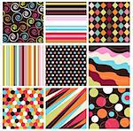 seamless patterns with fabric texture Stock Photo - Royalty-Free, Artist: lemony                        , Code: 400-05671387