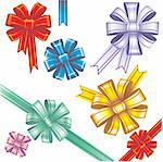 Set of colorful elegant bows Stock Photo - Royalty-Free, Artist: SelenaMay                     , Code: 400-05671628