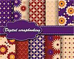 set of vector flower paper for scrapbook Stock Photo - Royalty-Free, Artist: Mary1507                      , Code: 400-05671877