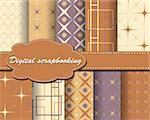 set of vector paper for scrapbook Stock Photo - Royalty-Free, Artist: Mary1507                      , Code: 400-05671878