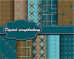 set of vector paper for scrapbook Stock Photo - Royalty-Free, Artist: Mary1507                      , Code: 400-05671879