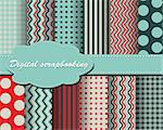 set of vector paper for scrapbook Stock Photo - Royalty-Free, Artist: Mary1507                      , Code: 400-05671884