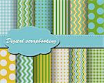 set of vector paper for scrapbook Stock Photo - Royalty-Free, Artist: Mary1507                      , Code: 400-05671885