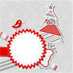 Template christmas greeting card, vector illustration Stock Photo - Royalty-Free, Artist: Tolchik                       , Code: 400-05671941