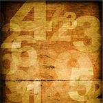 retro style numbers-background in grunge style Stock Photo - Royalty-Free, Artist: ilolab                        , Code: 400-05672054
