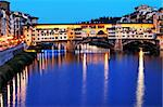 Ponte Vecchio at sunset, Florence, Italy Stock Photo - Royalty-Free, Artist: rechitansorin                 , Code: 400-05672446