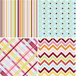 seamless patterns with fabric texture Stock Photo - Royalty-Free, Artist: lemony                        , Code: 400-05672557