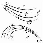 Music notes on white background Stock Photo - Royalty-Free, Artist: soleilc                       , Code: 400-05672873