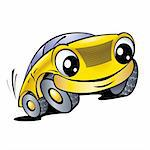 The cartoon car with smile Stock Photo - Royalty-Free, Artist: dvarg                         , Code: 400-05673109