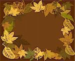 autumn frame background vector illustration Stock Photo - Royalty-Free, Artist: SelenaMay                     , Code: 400-05673248