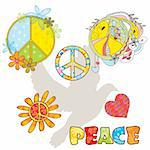 set of various peace symbols vector illustration Stock Photo - Royalty-Free, Artist: SelenaMay, Code: 400-05673335