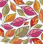 autumn background with colorful leaves Stock Photo - Royalty-Free, Artist: SelenaMay                     , Code: 400-05673347