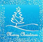 artistic christmas card vector illustration Stock Photo - Royalty-Free, Artist: SelenaMay                     , Code: 400-05673353