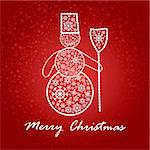 artistic christmas card vector illustration Stock Photo - Royalty-Free, Artist: SelenaMay                     , Code: 400-05673360