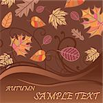 autumn background with place for your text Stock Photo - Royalty-Free, Artist: SelenaMay                     , Code: 400-05673366