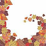 abstract autumn frame vector illustration Stock Photo - Royalty-Free, Artist: SelenaMay                     , Code: 400-05673372