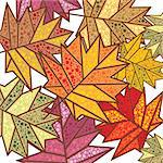 abstract autumn background vector illustration Stock Photo - Royalty-Free, Artist: SelenaMay                     , Code: 400-05673376