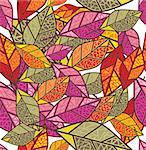 seamless autumn background vector illustration Stock Photo - Royalty-Free, Artist: SelenaMay                     , Code: 400-05673389