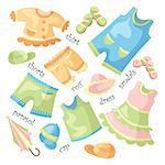 vector set of baby clothing and accessories Stock Photo - Royalty-Free, Artist: SelenaMay                     , Code: 400-05673430