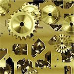 mechanical gears symbol of progress,precision and quality Stock Photo - Royalty-Free, Artist: nadil                         , Code: 400-05674097