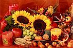 Still life and harvest or table decoration for Thanksgiving Stock Photo - Royalty-Free, Artist: Brebca                        , Code: 400-05674539