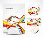 abstract brochure with colorful wave Stock Photo - Royalty-Free, Artist: pathakdesigner                , Code: 400-05674684