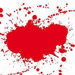 Red drop ink splatter, blood splash vector. Gloss brush paint spot, grunge blot, art blob, oil, abstract droplet. Splat, liquid illustration. Space for text. Stock Photo - Royalty-Free, Artist: svetap                        , Code: 400-05675402