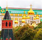 View of the wall of the tower of Moscow Kremlin Stock Photo - Royalty-Free, Artist: victorych                     , Code: 400-05675834