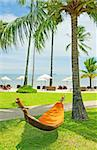 Empty hammock between palms trees Stock Photo - Royalty-Free, Artist: Vixit                         , Code: 400-05676022