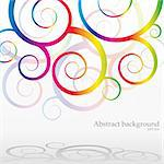 Abstract bacground with rainbow curls, vector illustration Stock Photo - Royalty-Free, Artist: MarketOlya                    , Code: 400-05676053