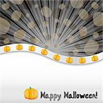 Halloween background with pumpkins and place for text, vector illustration Stock Photo - Royalty-Free, Artist: MarketOlya                    , Code: 400-05676055