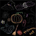 Halloween Icons A collection of fun Halloween icons. Sketch drawing. Vector illustration   Stock Photo - Royalty-Free, Artist: MarketOlya                    , Code: 400-05676056