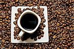select coffee cup, coffee beans over   Stock Photo - Royalty-Free, Artist: luiscar                       , Code: 400-05676117