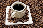 select coffee cup, coffee beans over   Stock Photo - Royalty-Free, Artist: luiscar                       , Code: 400-05676118