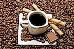 select coffee cup, coffee beans over   Stock Photo - Royalty-Free, Artist: luiscar                       , Code: 400-05676121