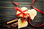 Heart shaped homemade butter cookies with aromatic spices. Stock Photo - Royalty-Free, Artist: mythja                        , Code: 400-05676488