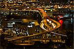 City of Portland Light Trails on Marquam Freeway at Night Stock Photo - Royalty-Free, Artist: jpldesigns                    , Code: 400-05676583