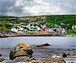 Quaint seaside fishing village in Newfoundland Canada Stock Photo - Royalty-Free, Artist: Elenathewise                  , Code: 400-05677092