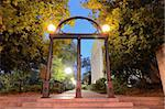 Historic steel archway on the campus of the University of Georgia in Athens, Georgia, USA. Stock Photo - Royalty-Free, Artist: sepavo                        , Code: 400-05677165
