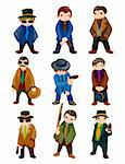 cartoon mafia icon  Stock Photo - Royalty-Free, Artist: notkoo2008                    , Code: 400-05677488