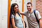 Smiling couple flirting in a corridor Stock Photo - Royalty-Free, Artist: 4774344sean                   , Code: 400-05677844