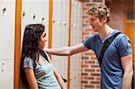 Young couple flirting in a corridor Stock Photo - Royalty-Free, Artist: 4774344sean                   , Code: 400-05677846
